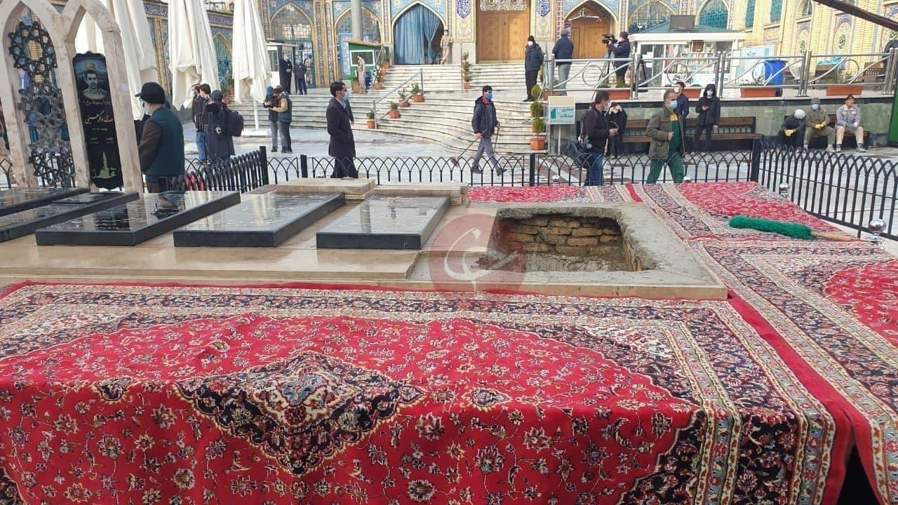 محل تدفین شهید فخری زاده در امام زاده صالح