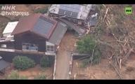 بارشهای سیل آسا در غرب ژاپن + ویدئو