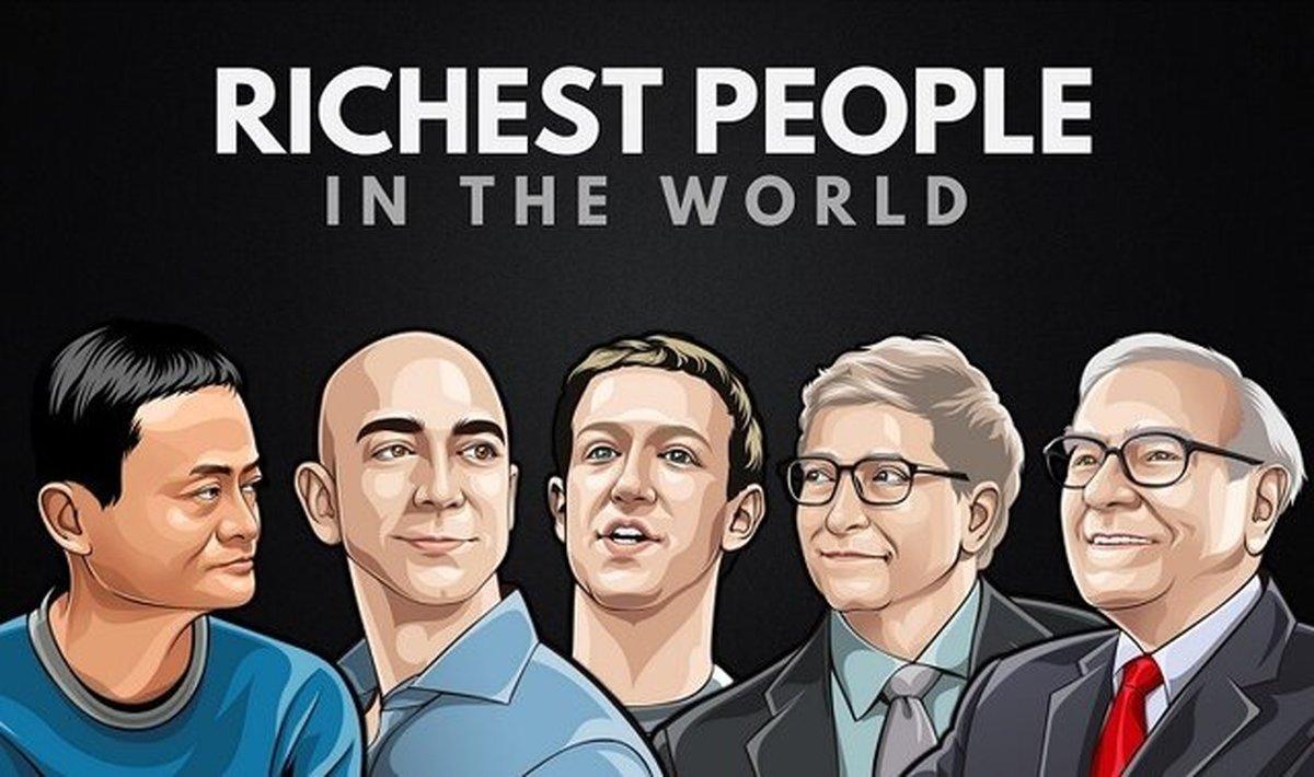 تازه ترین به روزرسانی ثروتمندان جهان