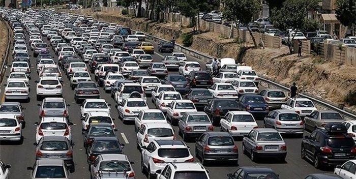 ترافیک سنگین بین کرج و قزوین / انسداد روزانه جاده چالوس از ساعت ۸ صبح فردا