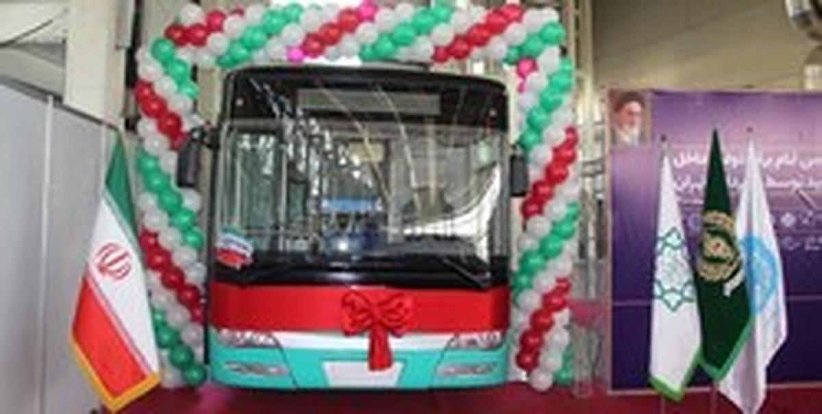 اتوبوس برقی تولید داخل در تهران رونمایی شد