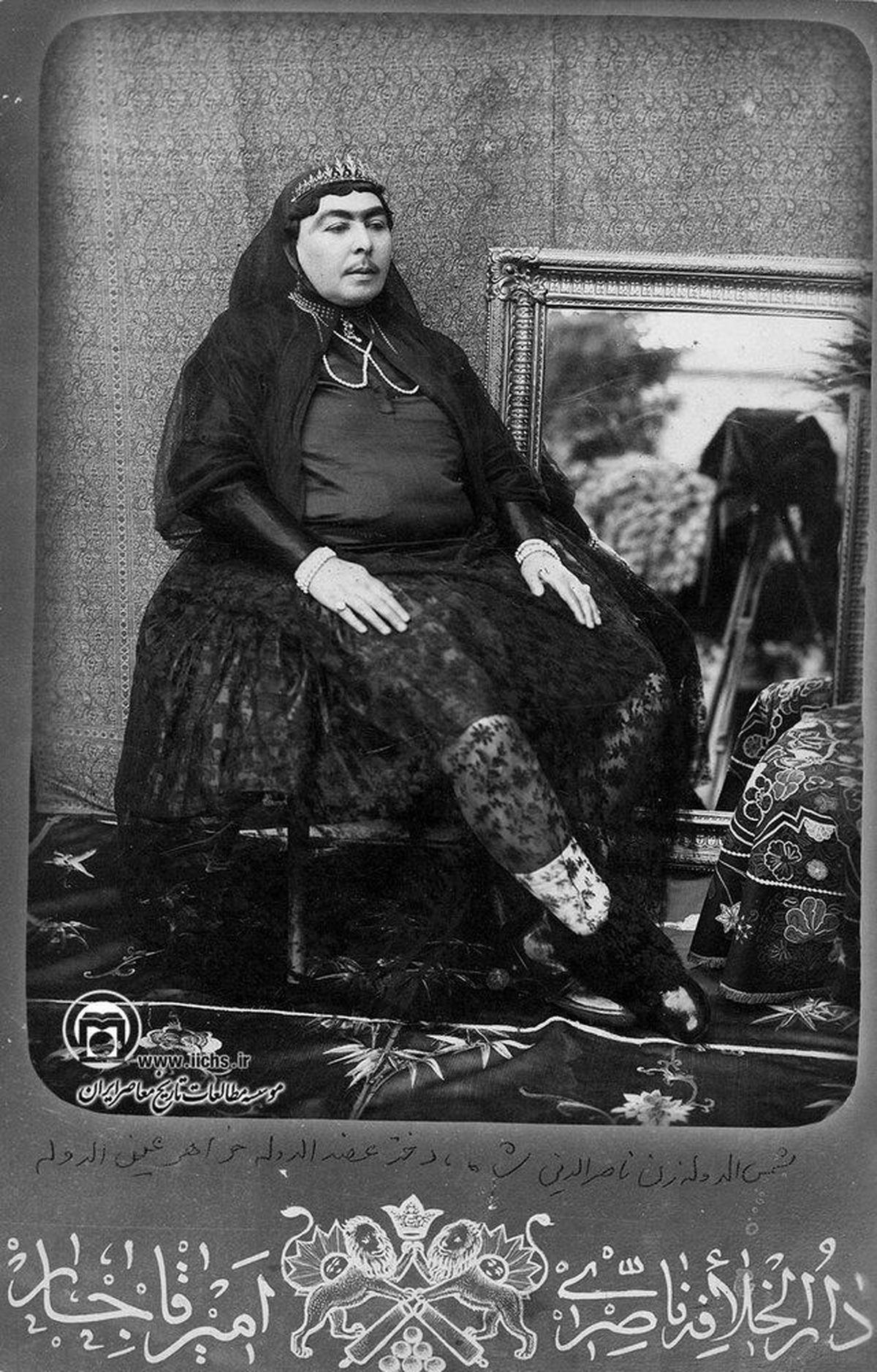 تصویری از همسر ناصرالدین شاه قاجار