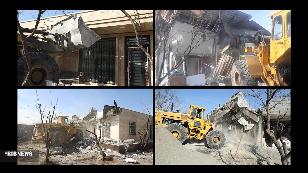 باغ ویلا   43ویلای میلیاردی در خوشنام ملارد تهران تخریب شد
