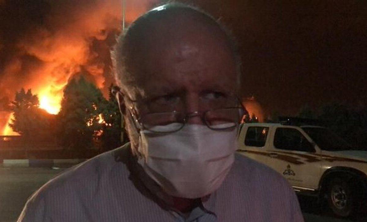 زنگنه به آتش سوزی پالایشگاه تهران ورود کرد| زنگنه: هیچ نگرانی وجود ندارد