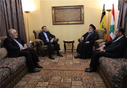 دیدار «عبداللهیان» با دبیر کل حزبالله لبنان
