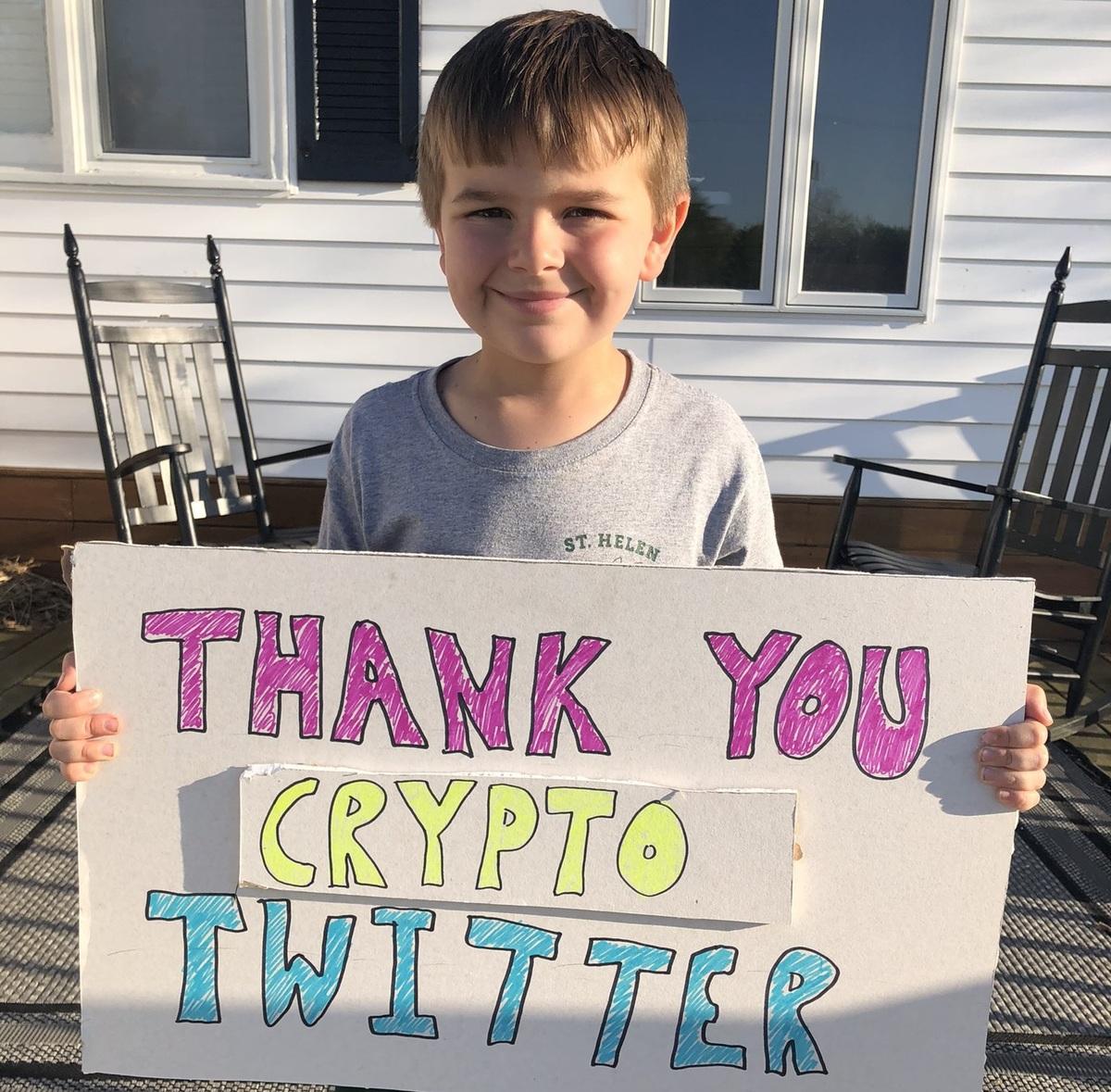 کیف پول اتریوم | کودک مبتلا به سرطان خون ، ۸۰۰,۰۰۰ دلار ارز دیجیتال هدیه گرفت