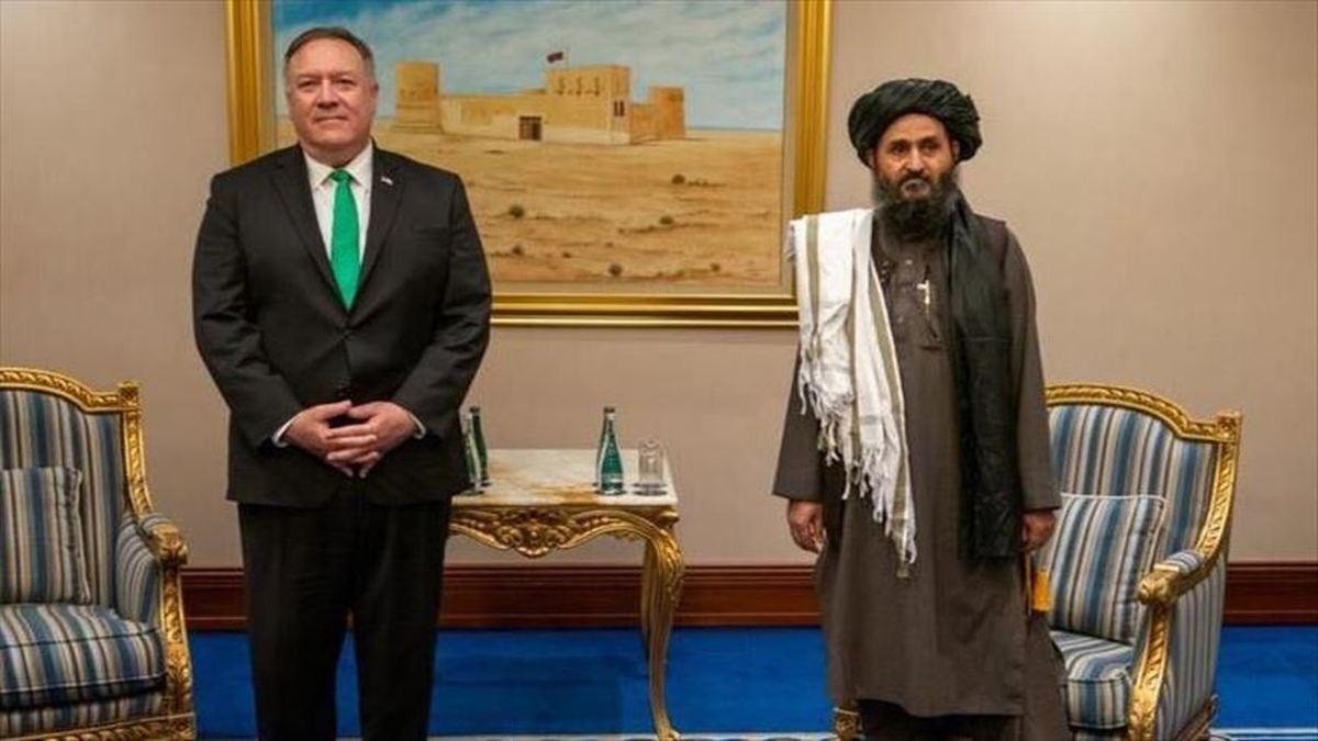 دیدار وزیر خارجه آمریکا با رهبران طالبان