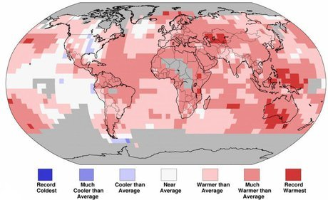 گرمای زمین در سال 2020 ثبت رکورد دیگری کرد.
