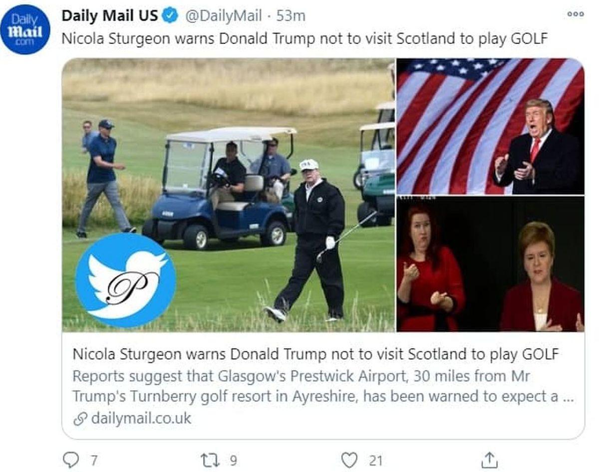 ترامپ به اسکاتلند فرار کرد تا در تحلیف بایدن نباشد+عکس