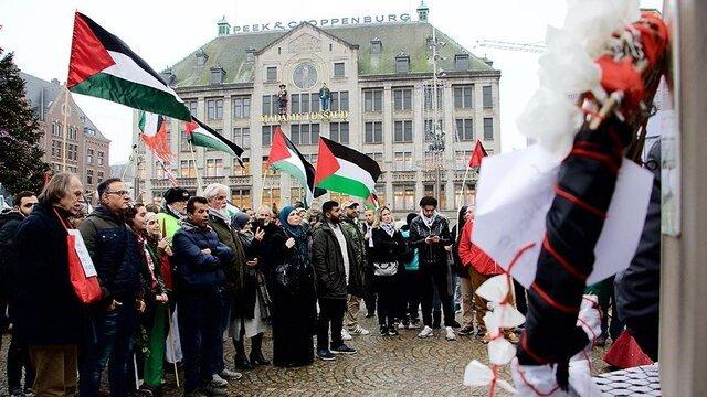 تظاهرات در انگلیس و هلند در اعتراض به حملات رژیم صهیونیستی در مسجدالاقصی