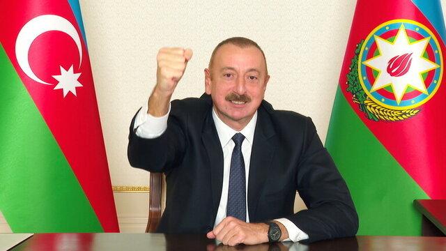علیاف |  ۱۰ نوامبر روز شکست ارمنستان است.