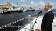 برگزاری مراسم روز نیروی دریایی با حضور پوتین