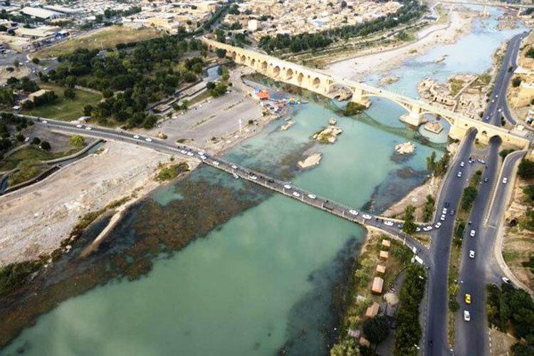 فاضلاب شهری به رودخانه دز تخلیه میشود+تصاویر
