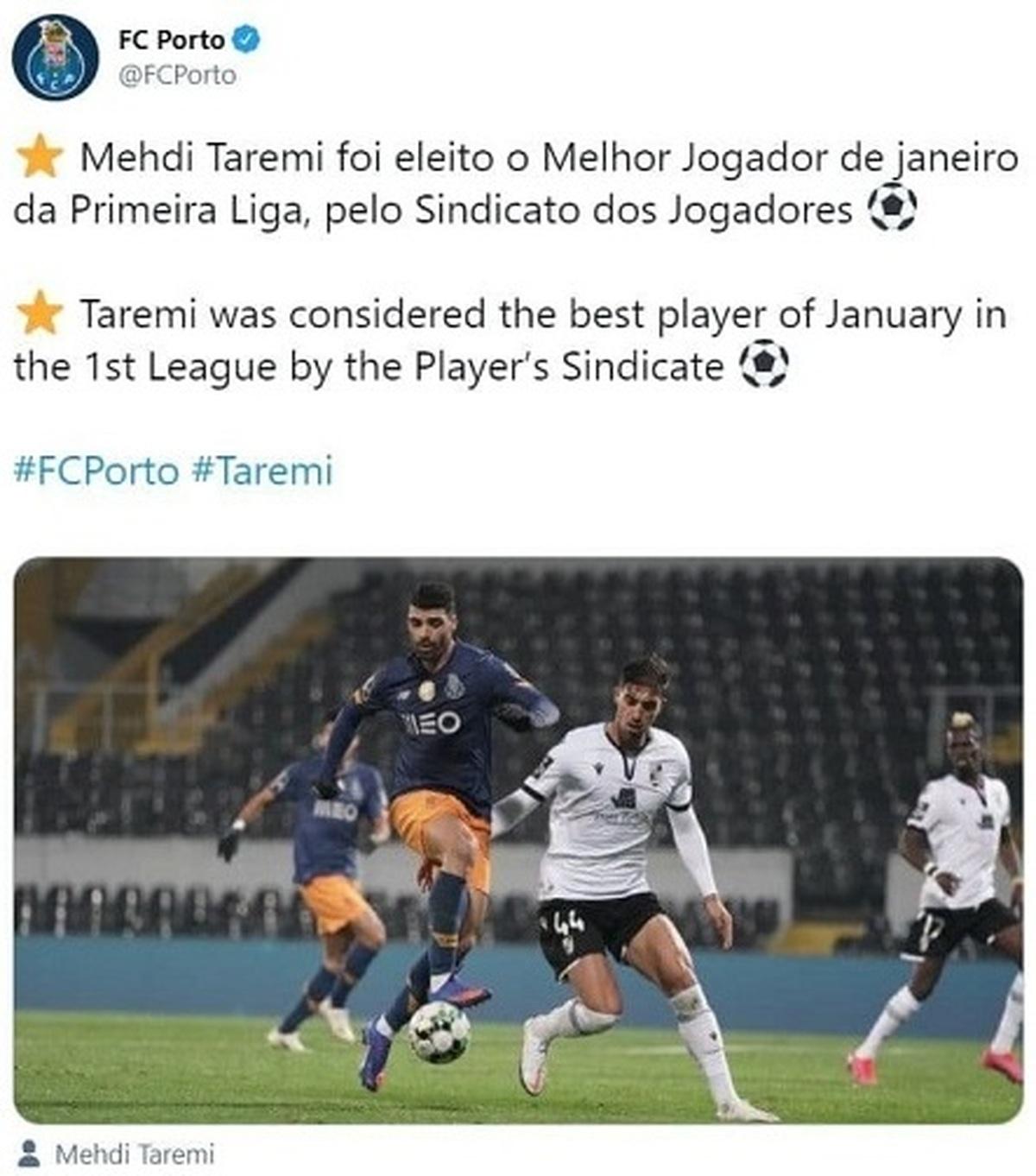 درخشش مهدی طارمی در لیگ پرتغال| بهترین بازیکن ماه لیگ پرتغال