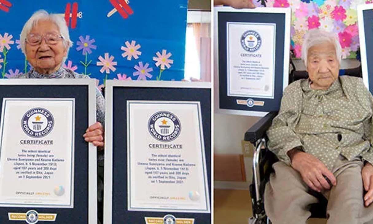 ثبت پیرترین دوقلوهای جهان در کتاب رکوردهای گینس+ عکس