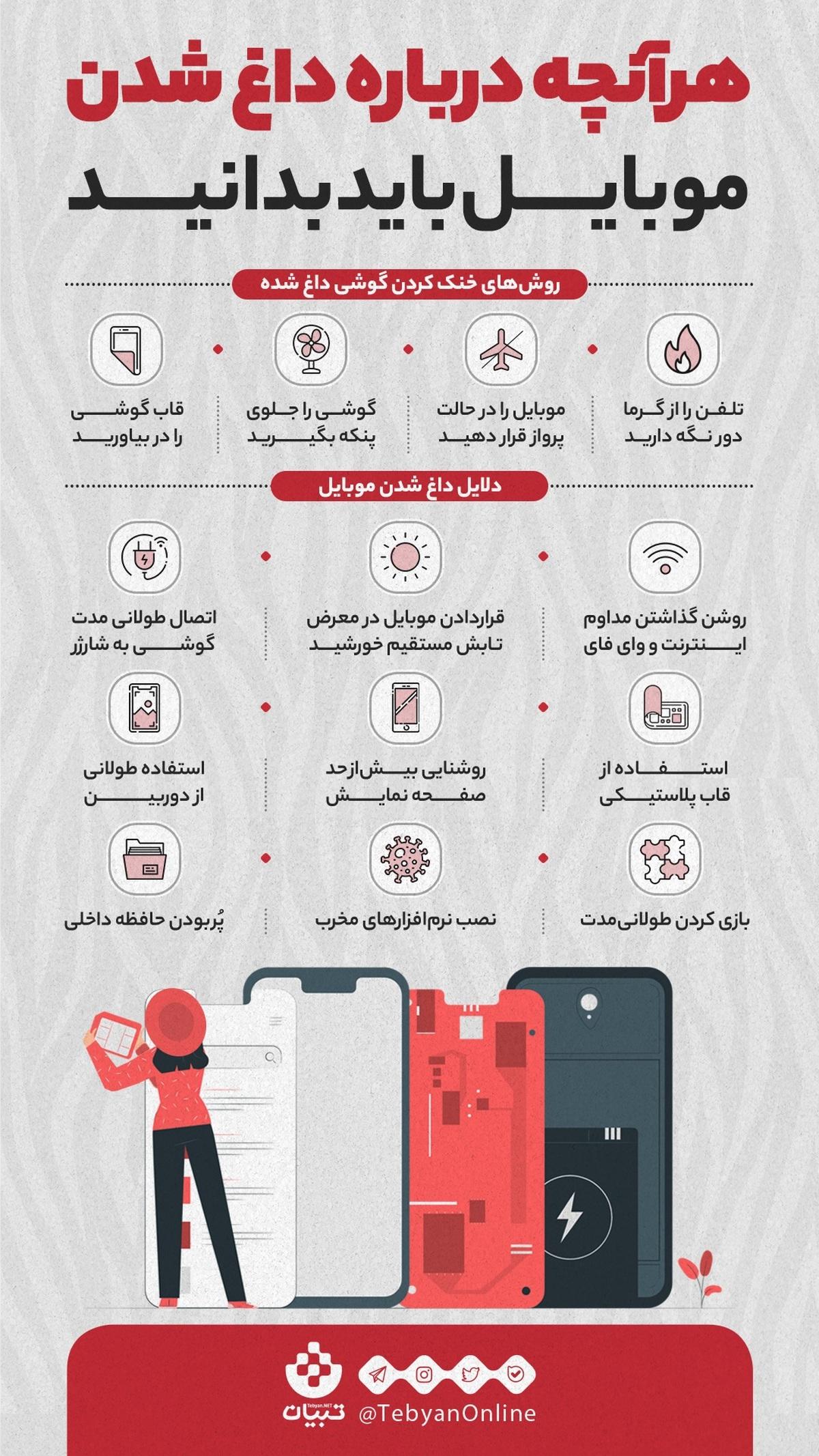 دلایلی که باعث داغ شدن موبایل میشود+عکس