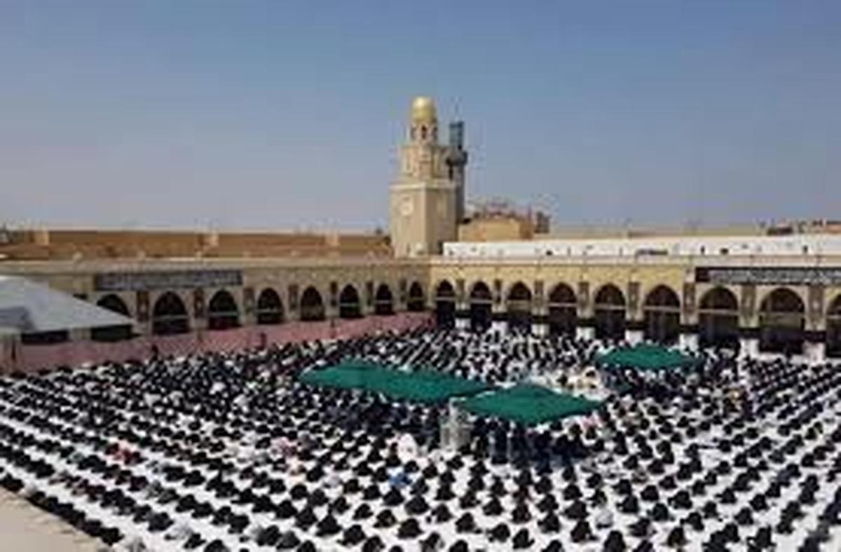 کرونا       نمازجمعه مسجد کوفه پس از چهار ماه تعطیلی برپا شد.