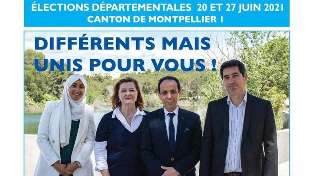 جنجال عکس باحجاب یک نامزد حزب ماکرون در انتخابات محلی فرانسه