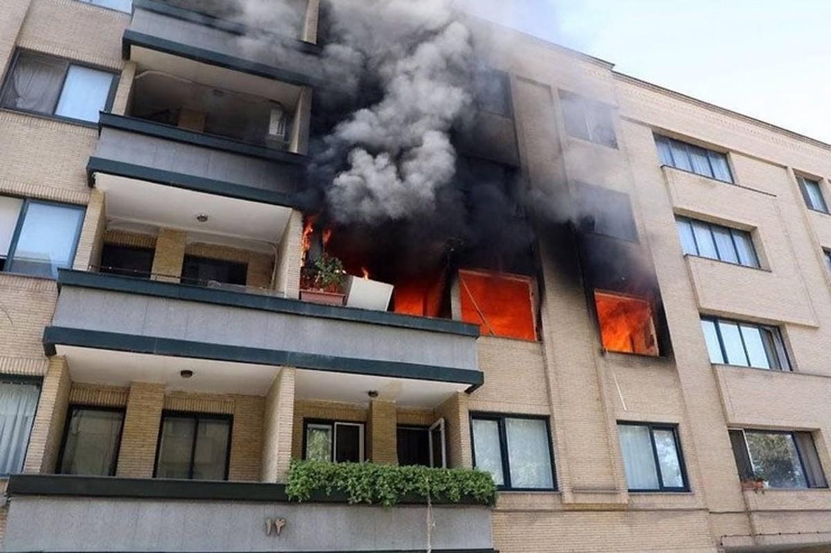 انفجار مهیب و آتش سوزی در مجتمع مسکونی شهر مشهد
