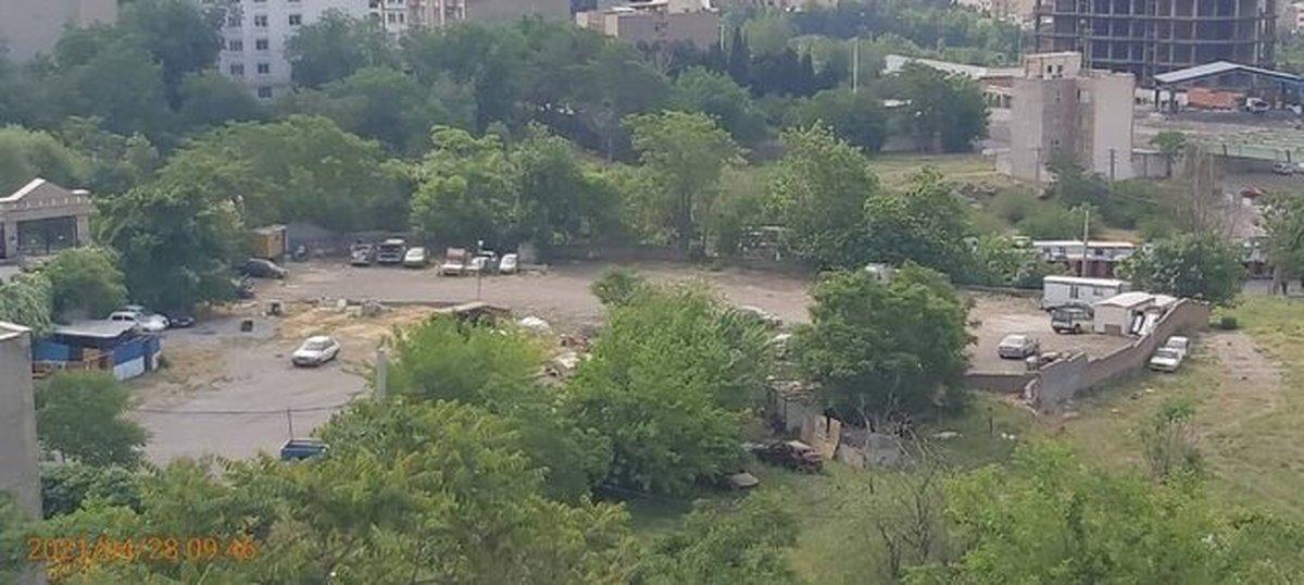 در شمال تهران پارکینگ غیرمجاز  تخلیه شد