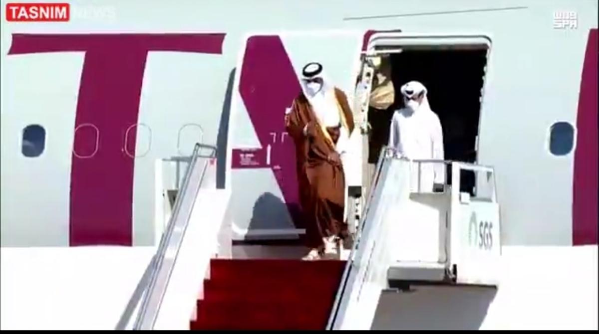 بن سلمان به استقبال امیر قطر رفت + ویدئو
