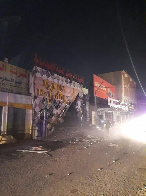 انفجار  |   موسسه آمریکایی در مرکز نجف منفجر شد