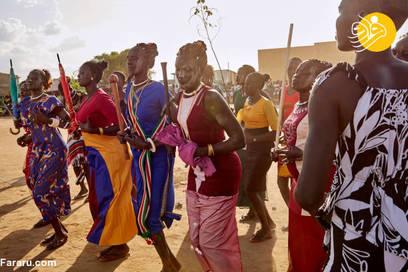 مسابقات سنتی کشتی در سودان جنوبی