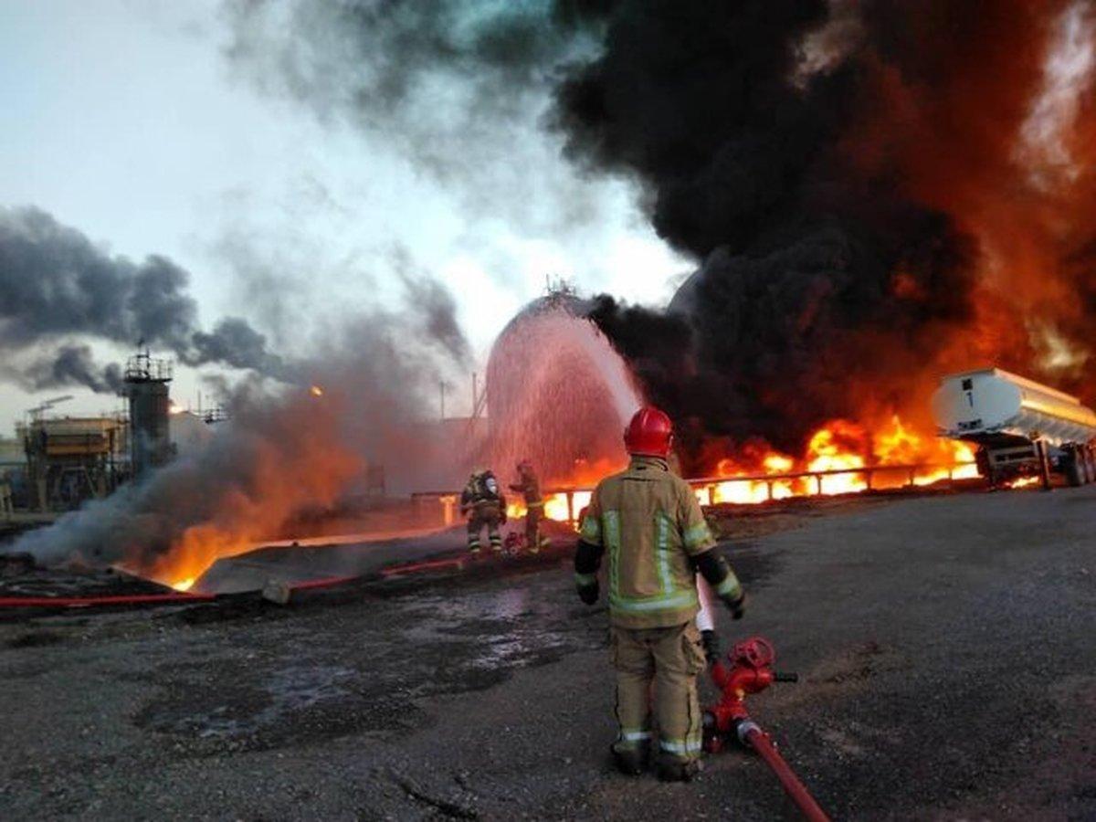 مصدومان آتش سوزی پالایشگاه تهران اعلام شد
