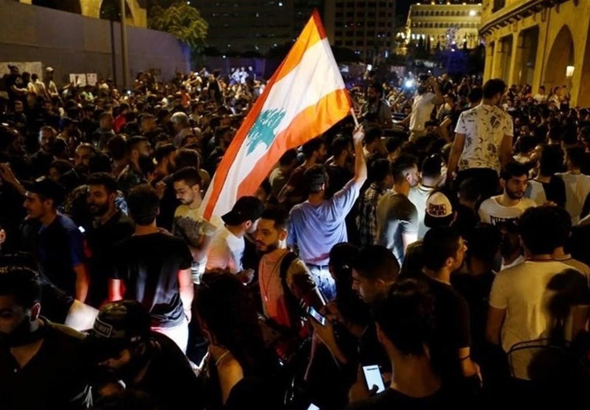 تظاهرات لبنانیها در اطراف کاخ ریاستجمهوری