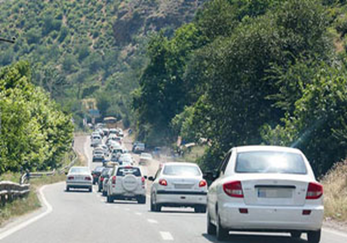 ترافیک پرحجم در برخی جادههای مازندران