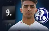 یونس دلفی، بازیکن استقلال خوزستان نهمین استعداد برتر فوتبال جهان