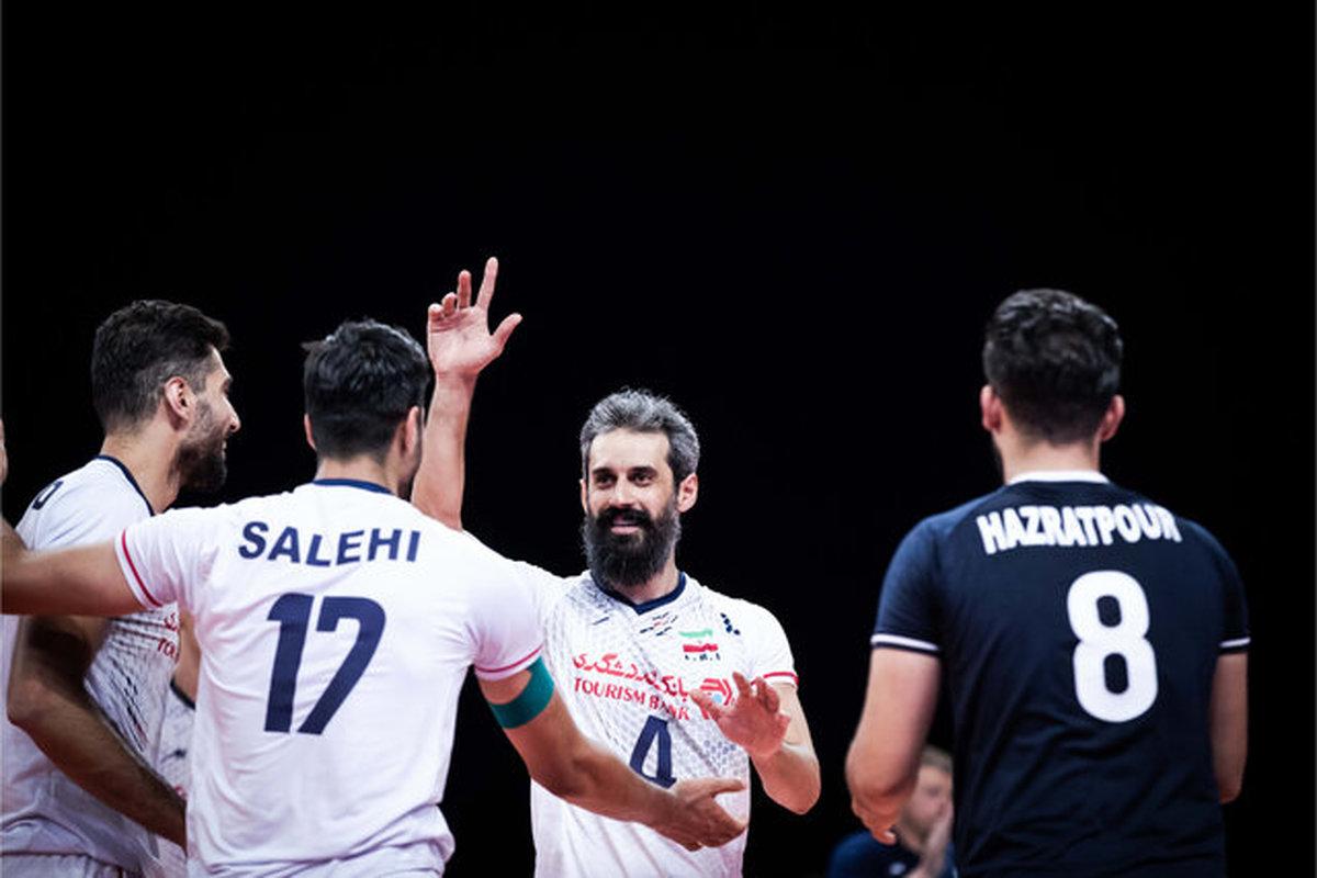 صعود ملی پوشان والیبال ایران به رده ششم جهان