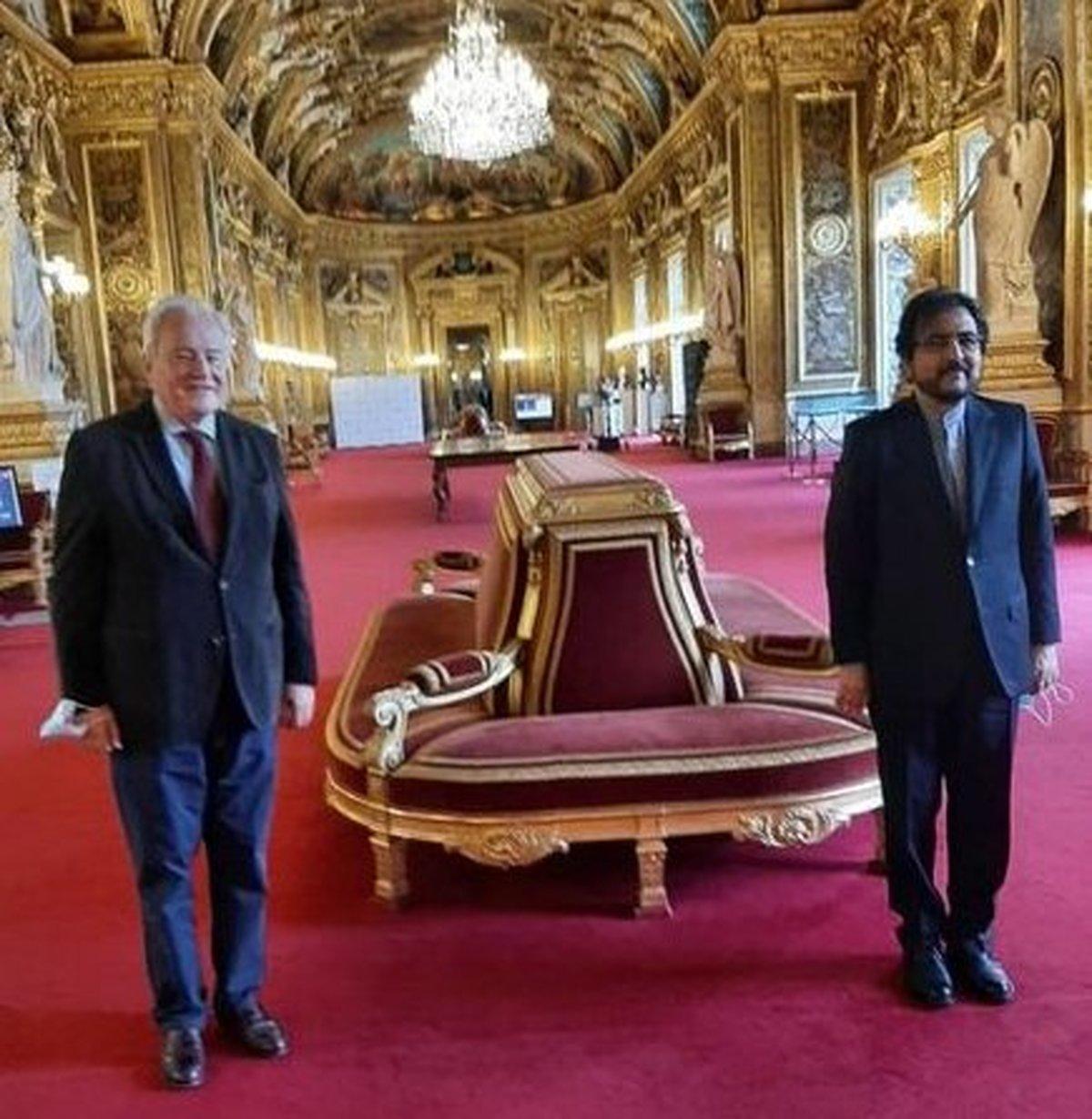 گفتوگوی بهرام قاسمی با رئیس کمیسیون امور خارجی، دفاعی و نیروهای مسلح سنای فرانسه