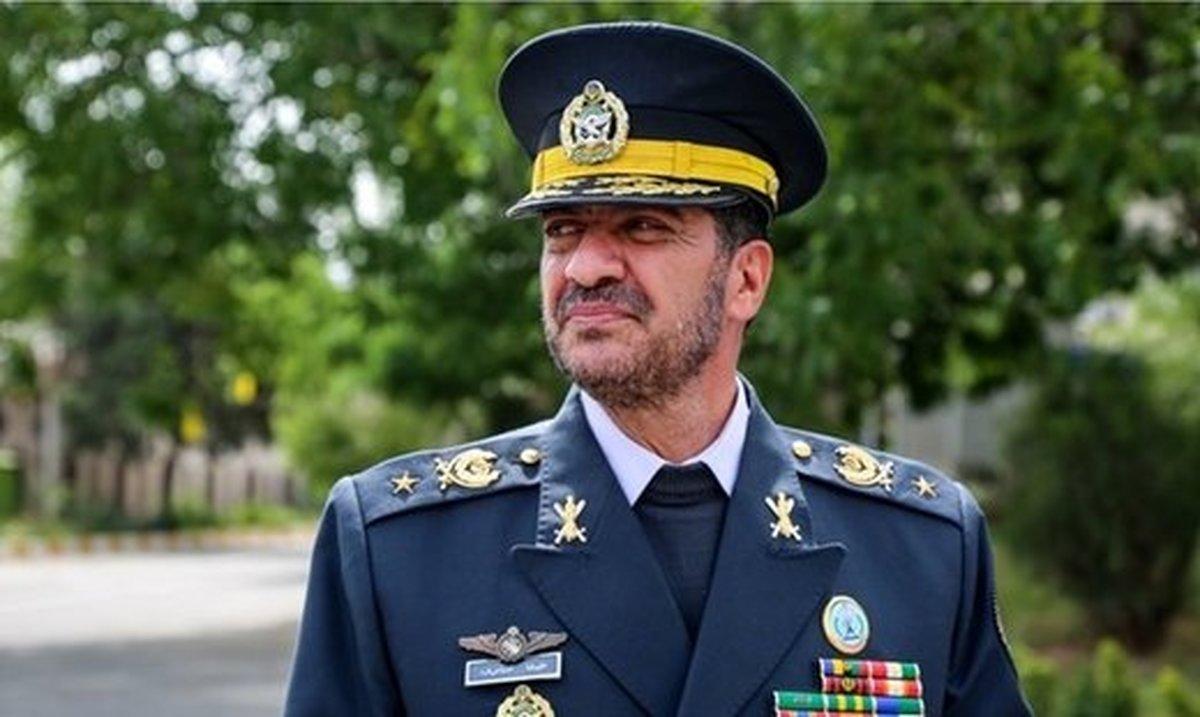 فرمانده پدافند هوایی ارتش: پهپاد متجاوز را با سامانه های بومی و شلیک موشک منهدم کردیم
