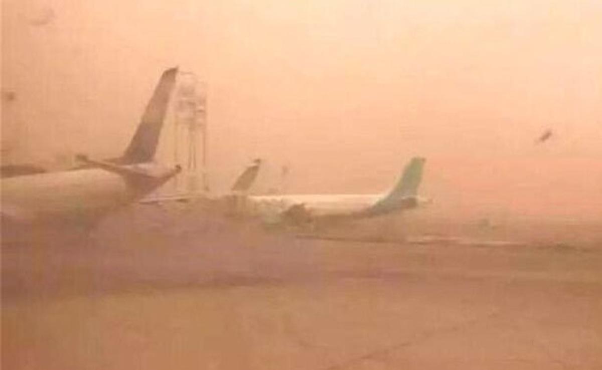 پروازهای فرودگاه شیراز مختل شد.