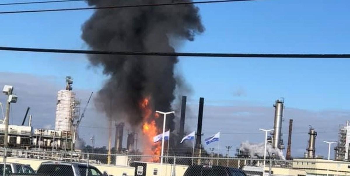 انفجار و آتش سوزی گسترده در پالایشگاه نفت در شرق کانادا