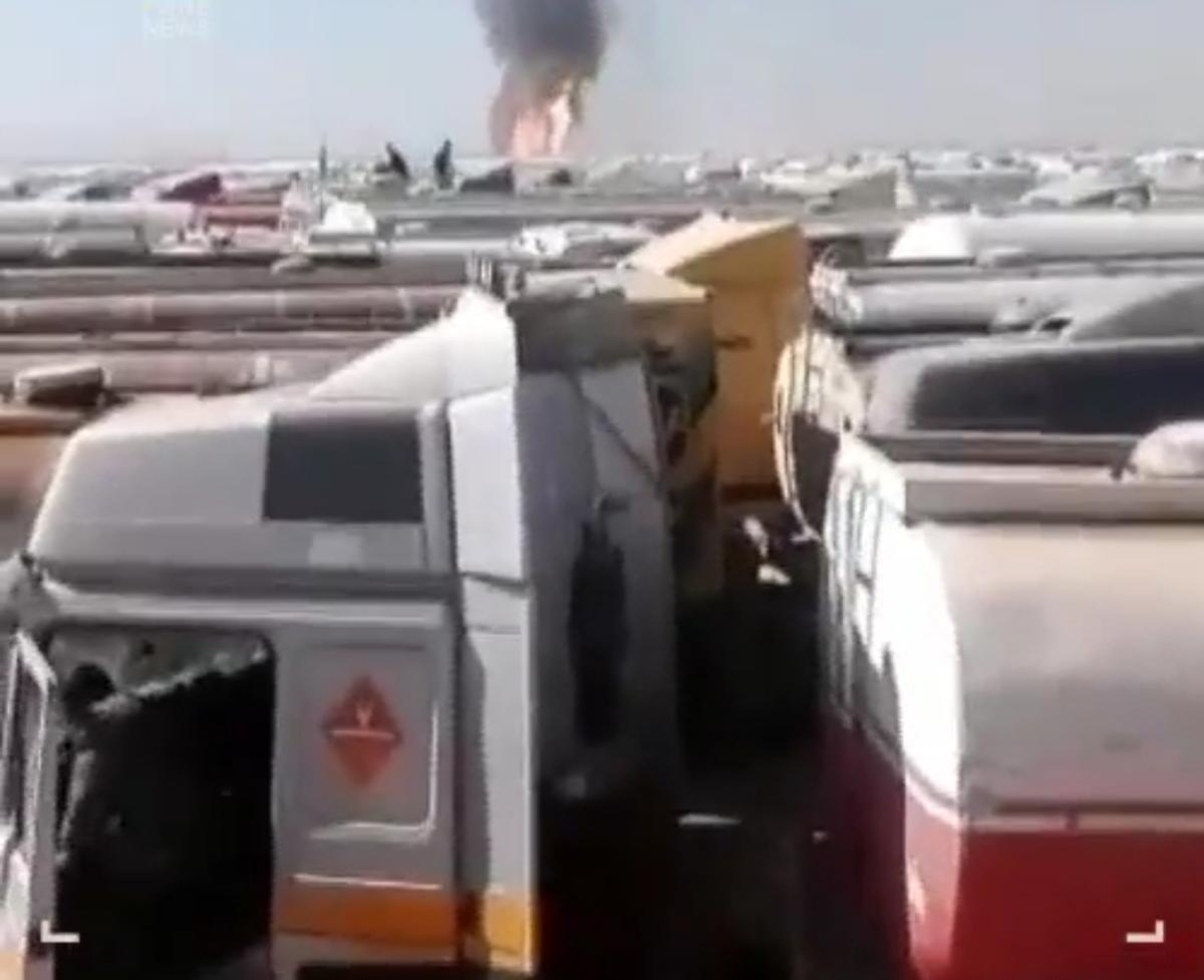 لحظه آغاز انفجار در گمرک اسلامقلعه + ویدئو