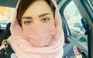 بازیگر زن مشهور،سوار بر یک تاب در روستای زیبا+ عکس