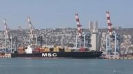 اولین کشتی باری حرکت خود امارات به بندر حیفا  آغاز کرد