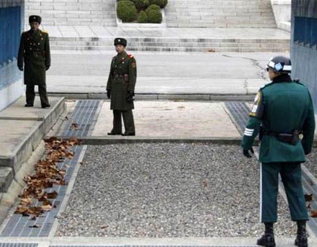 مرز طنزآمیز کره شمالی و جنوبی!