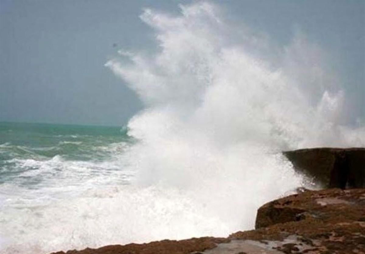 تفریحات آبی ممنوع      طوفانی شدن خلیج فارس و دریای عمان