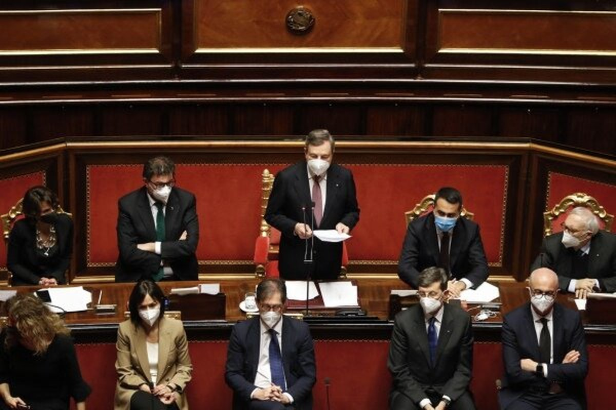 سنای ایتالیا به دولت جدید «ماریو راگی» رأی اعتماد داد