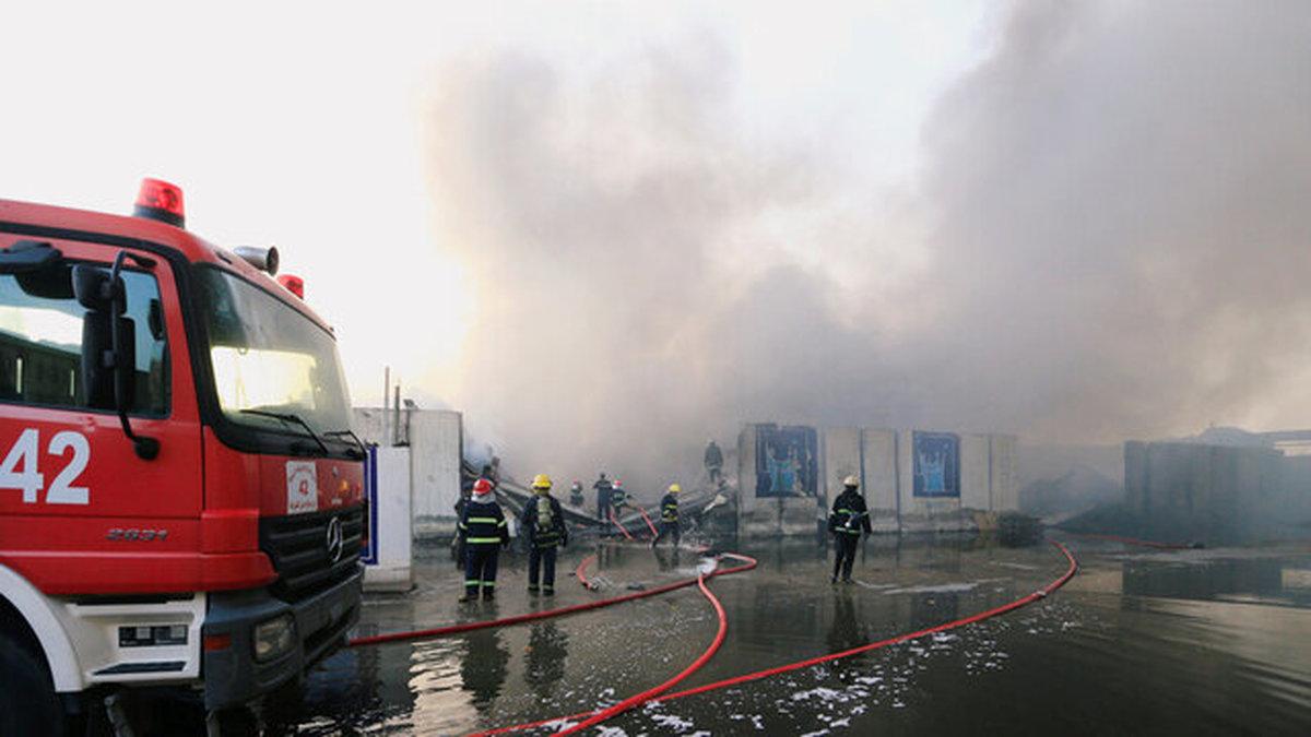 آتش سوزی فرودگاه المثنی بدون هیچ تلفاتی پایان یافت