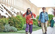 توریست های خارجی در خیابانهای تهران