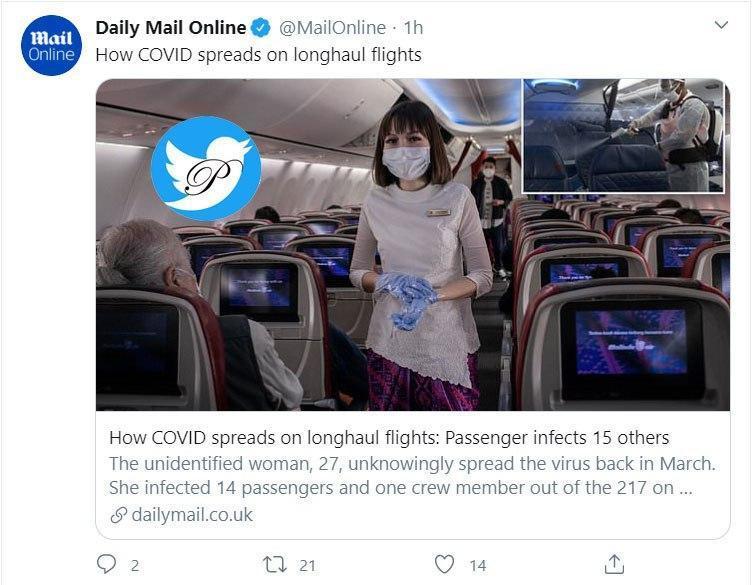 بدترین وسیله برای انتقال کرونا پرواز طولانی با هواپیما