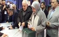حضور ظریف و همسرش در انتخابات