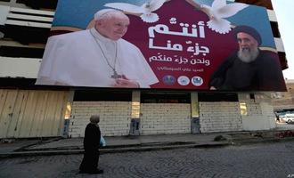 «زائر صلح» با چه هدفی پا به عراق گذاشت؟ |  دیدار تاریخی پاپ با آیتالله سیستانی