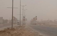گرد وغبار  | آسمان خوزستان تیره و تار شد
