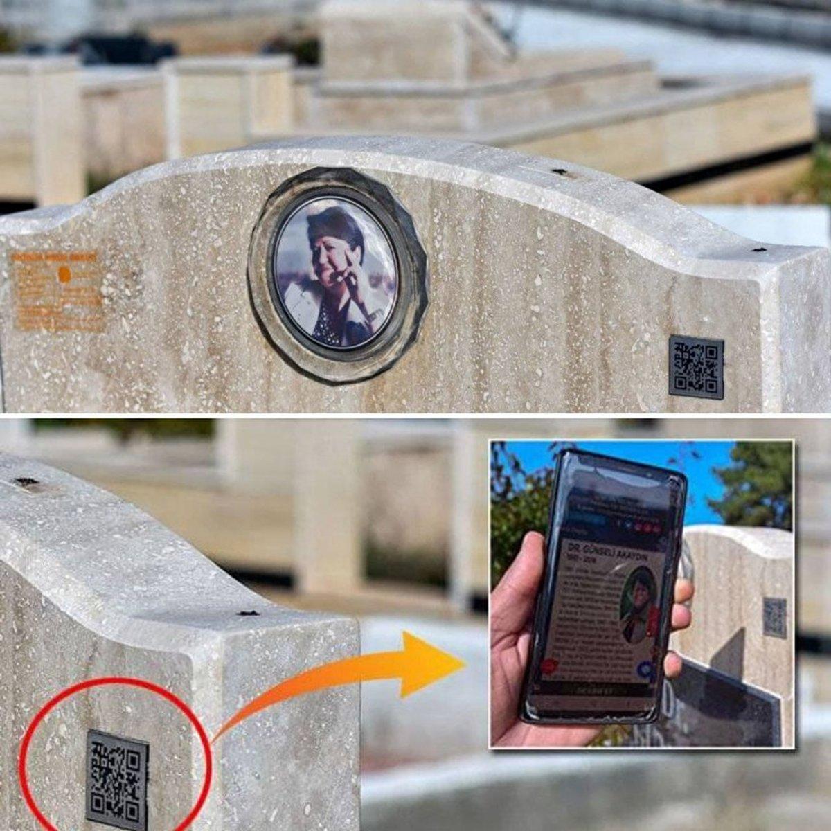سنگ قبرهای ترکیه به کد کیوآر مجهز شد