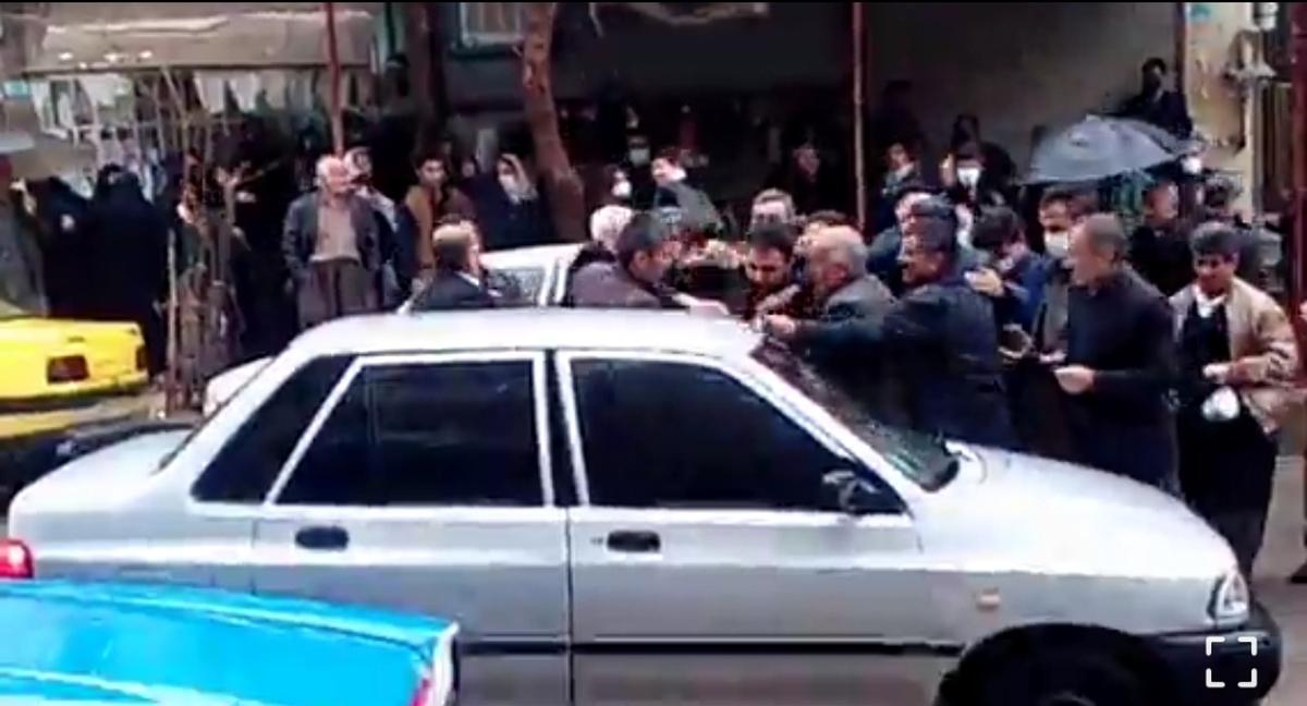 ازدحام و صف روغن نباتی در جوانرود (استان کرمانشاه) + ویدئو